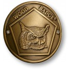 wood badge owl hiking staff medallion