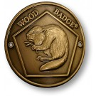 wood badge beaver hiking staff medallion