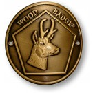 wood badge antelope hiking staff medallion