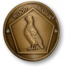 wood badge bobwhite hiking staff medallion