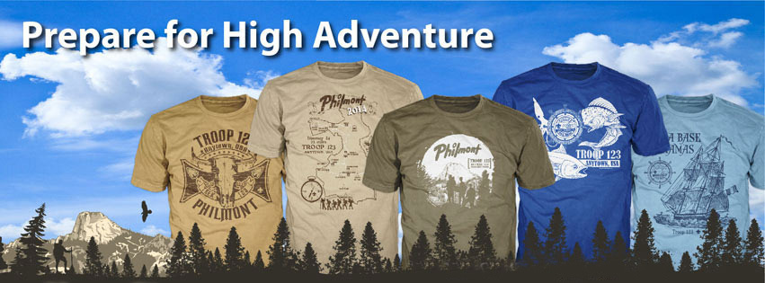 ClassB designs for High Adventure custom t-shirts