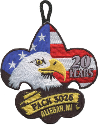 Patriotic cub scout pack anniversary eagle patch