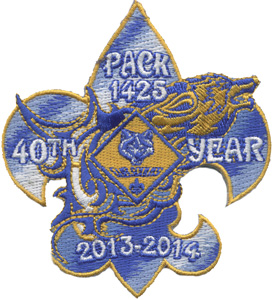 Tribal wolf cub scout pack anniversary patch