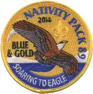 Blue and gold cub scout event patch