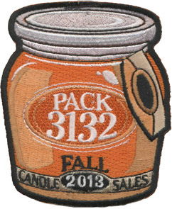 Custom cub scout candle sales patch