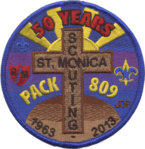 Cub scout reverent cross custom embroidered patch