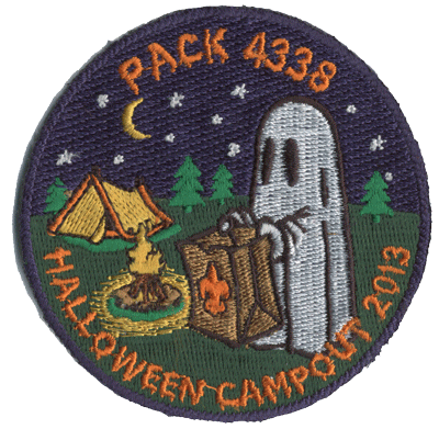 cub scout pack halloween campout custom embroidered patch