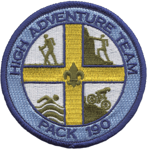 Cub Scout Pack High Adventure Team Patch