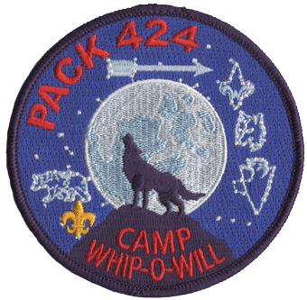Howling wolf moon patch for cub scout campouts