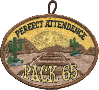 perfect attendance custom cub scout pack patch