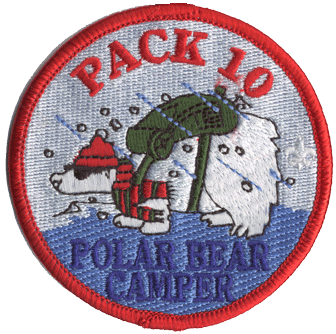 polar bear camper patch for cub scouts