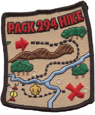 Hiking trail map cub scout custom patch