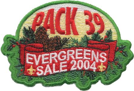 Cub scout holiday evergreen wreath sales patch