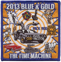 cub scout pack blue and gold event patch
