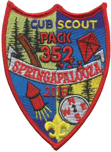 custom cub scout pack springaplooza event patch