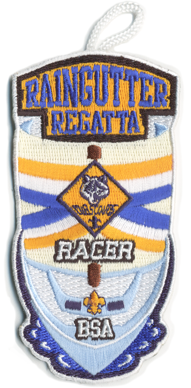 cub scout raingutter regatta event patch