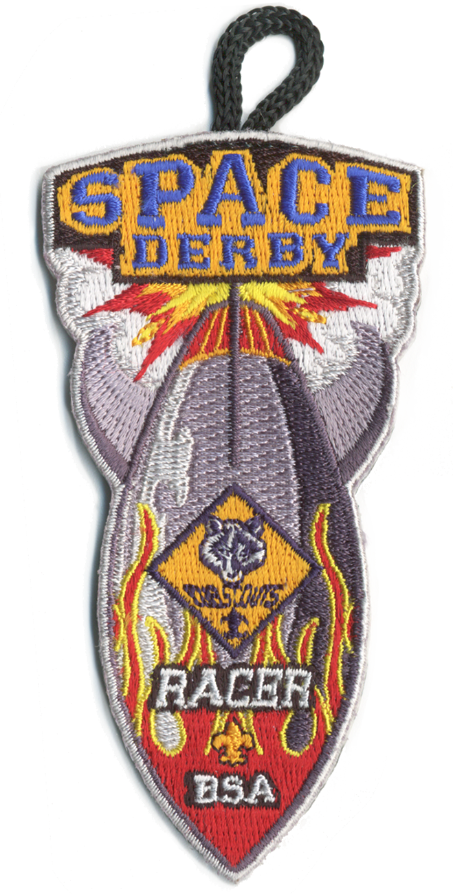cub scout space derby patch