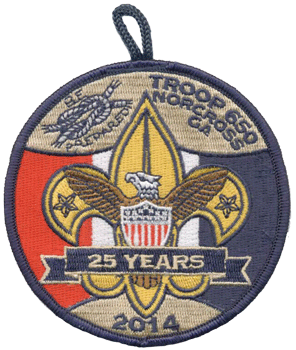 custom boy scout troop anniversary patch