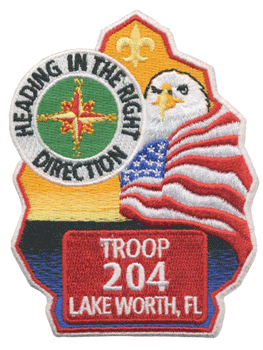 custom boy scout troop leadership patch