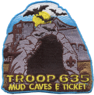 custom boy scout mud caves patch