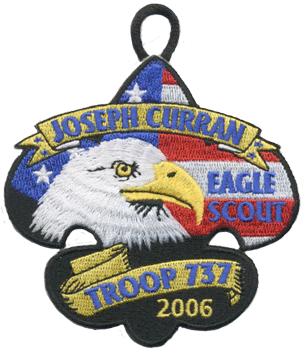 custom patriotic bald eagle scout patch