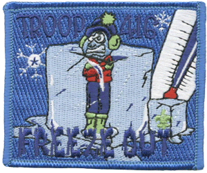 boy scout freeze out custom patch