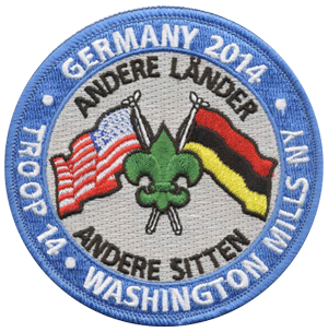 Boy scout troop trip to Germany custom patch