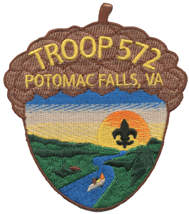 custom acorn shaped boy scout patch