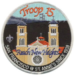 boy scout troop san francisco custom patch