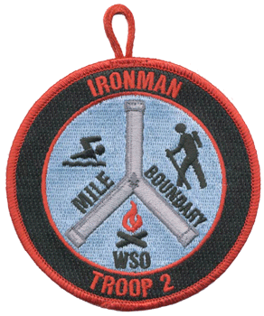 custom boy scout troop ironman patch