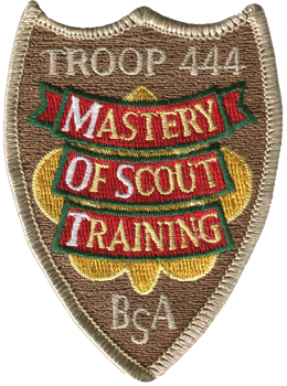 custom boy scout troop mastery training patch