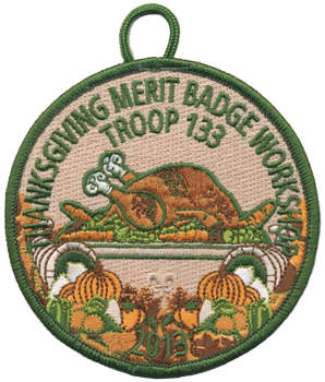 thanksgiving turkey merit badge workshop patch