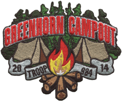 troop greenhorn campout patch