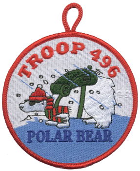 custom boy scout polar bear patch