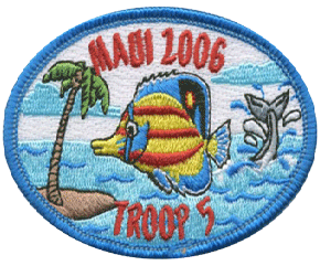 boy scout maui trip custom patch