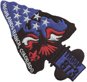 scout troop arrowhead eagle unit patch