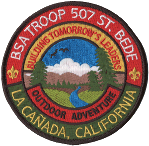 boy scout troop round unit patch