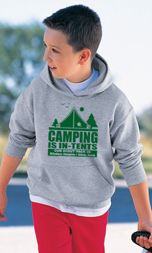 Hooded boy scout Troop Sweatshirt
