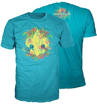 BSA Fleur-de-lis shirt splatter