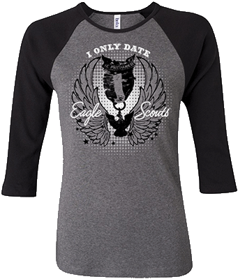 I only date eagle scouts ladies t-shirt