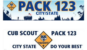 Cub Scout custom banner examples