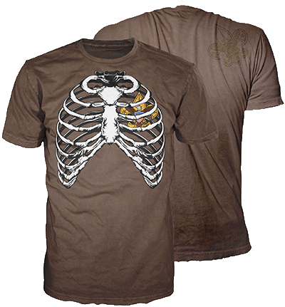 rib cage boy scout BSA graphic tee