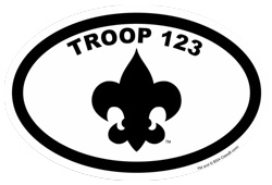 Oval Boy Scout Troop Euro Sticker