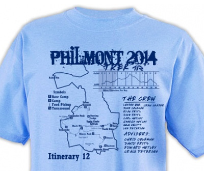SP2657 Philmont Trek custom Map t-shirt design