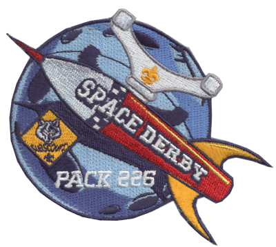 Space Derby custom cub scout patch