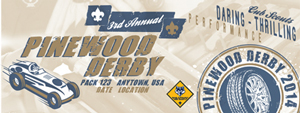 race day cub scout pinewood derby custom vinyl banner
