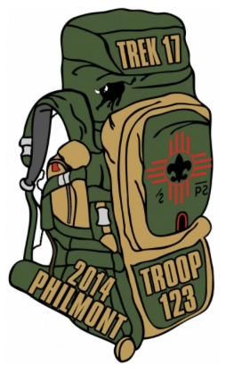 Custom Philmont hikers backpack embroidered patch design idea PA4645