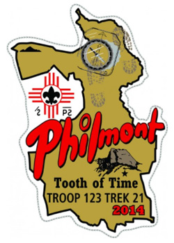 Custom Philmont trek map embroidered patch design idea PA4634