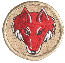 boy scout red fox patrol patch