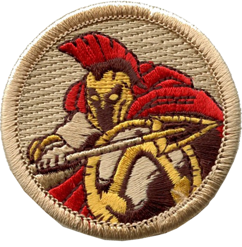 spartan boy scout patrol patch